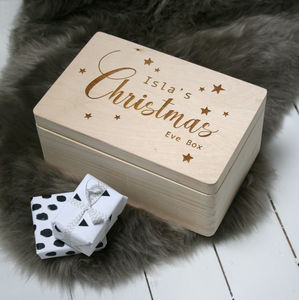 Personalised Large Traditional Christmas Eve Box - christmas decorations