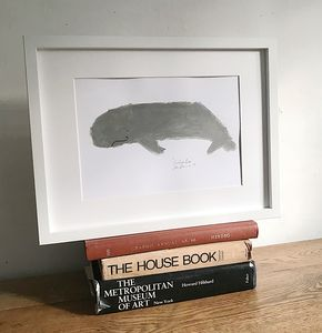 'Whale' Original Painting On Paper
