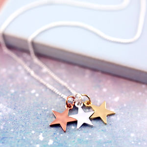 Mixed Metal Star Necklace - necklaces & pendants