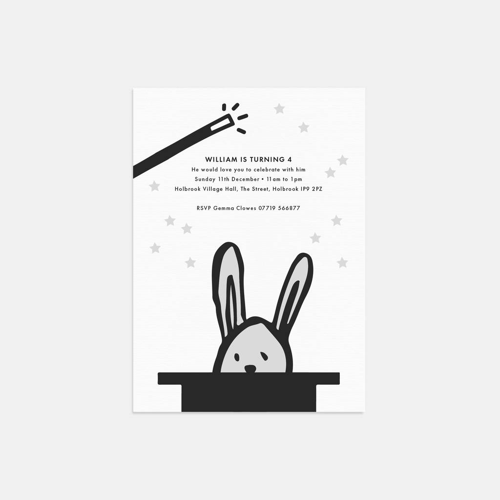 abracadabra personalised birthday party invitations by lola\'s ...