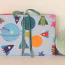 Space Gift Wrap Two Sheets