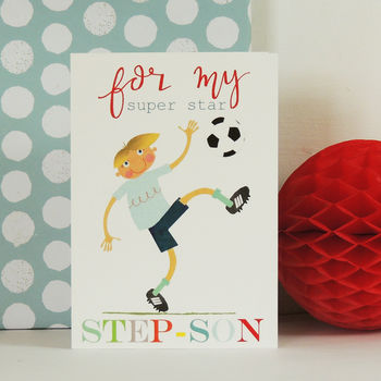 Football Step Son Greetings Card