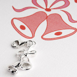 Jingle Bells Charm In Sterling Silver