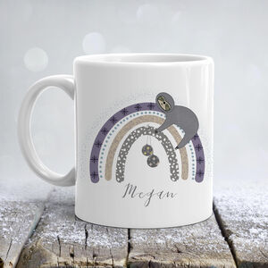 Christmas Sloth Rainbow Mug