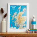 Scratch Off Scottish Island Bagging Gift Print