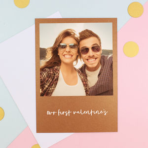 Copper Photo Valentine's Day Card - valentine's cards