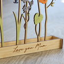 Wooden Personalised Family Birth Flowers