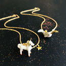 Personalised Unicorn Or Narwhal Ceramic Necklaces