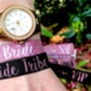 bride tribe rose gold hen do wristband bracelets