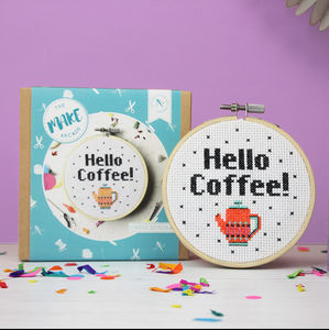 Hello Coffee Cross Stitch Craft Kit
