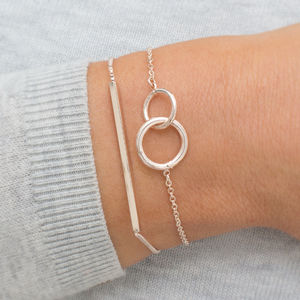 Personalised Lia Circle Of Life And Bar Slider Set - bracelets & bangles