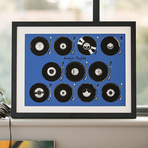 Personalised Play List Vinyl Print - 40th birthday gifts