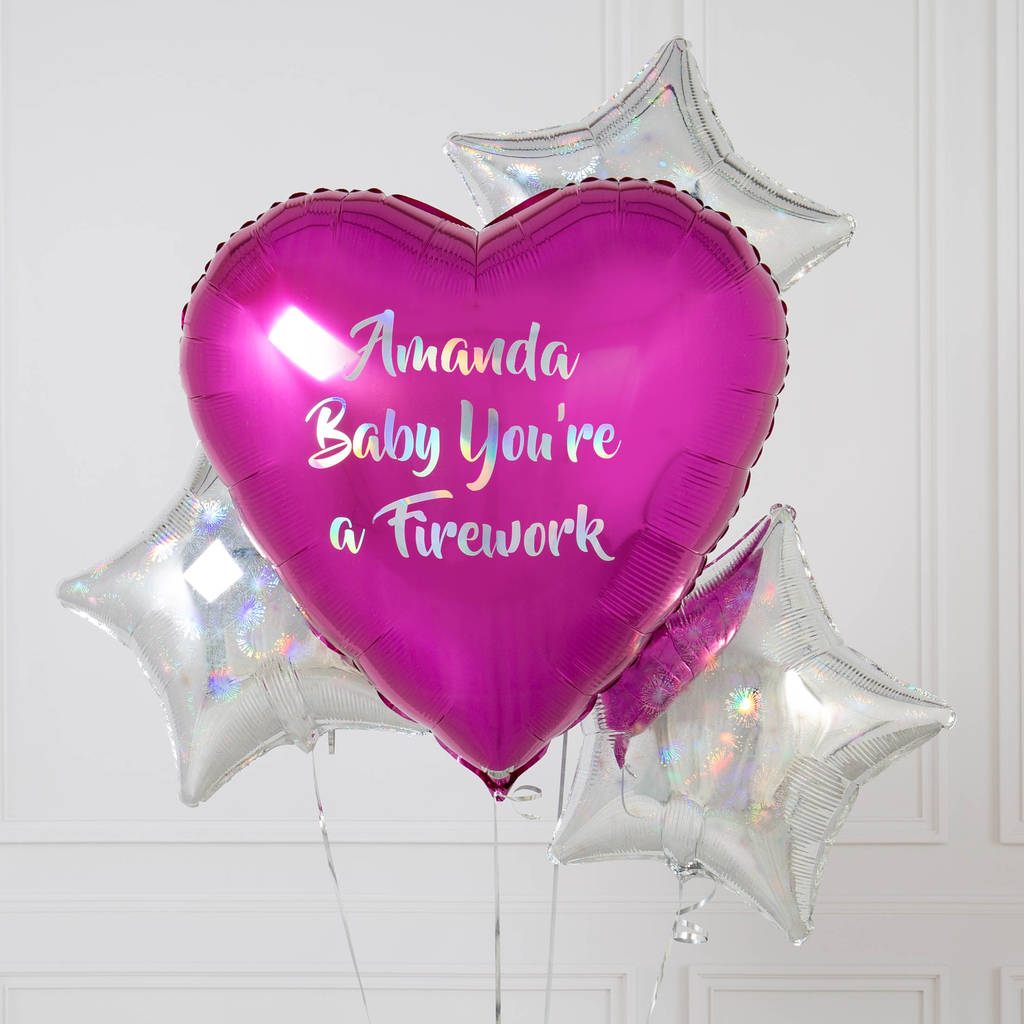Personalised Baby You're A Firework Inflated Balloons