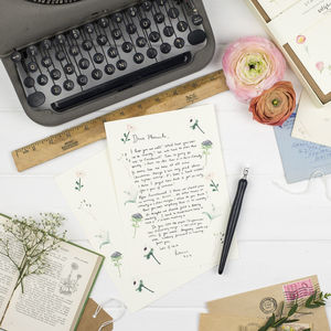 Floral Letter Writing Notecards