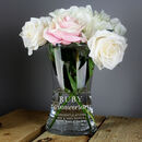 Personalised Ruby Anniversary Glass Vase