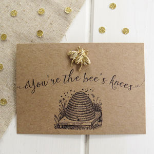 'You're The Bee's Knees' Pin Brooch - pins & brooches