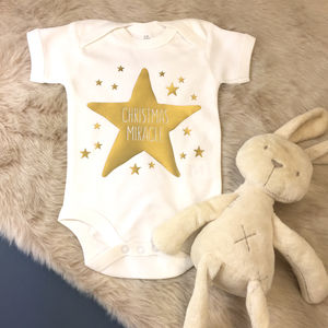 Christmas Miracle Babygrow - baby's first christmas
