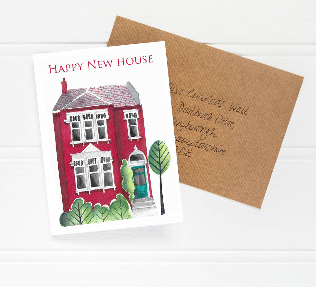 happy new home housewarming card by helena tyce designs
