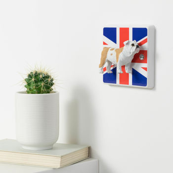 British Bulldog Union Jack Light Switch