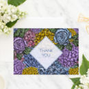 Floral 'Dahlia' Thank You Card