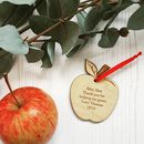 Personalised Teacher Gift Hanging Apple Decoration