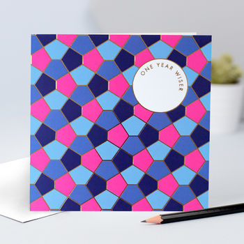Tessellation Birthday Card For Him Or Her