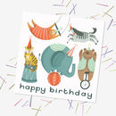 Retro Circus Birthday Card