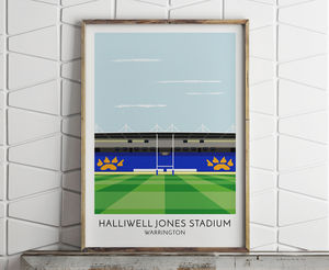 Personalised Contemporary Rugby Stadium Print - gifts for him
