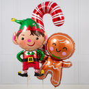 Christmas Characters Inflated Foil Bunch