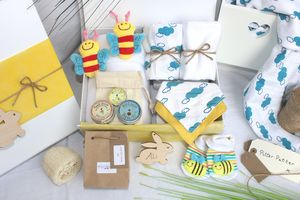 Unisex Springtime Pamper Hamper For Mother And Baby - new in baby & child