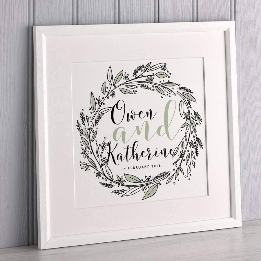 Couple's Wreath Print