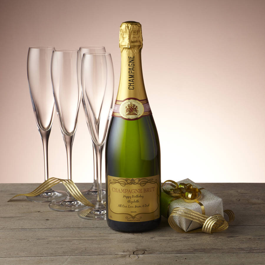 Personalised Christmas Champagne