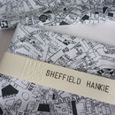 'Sheffield Hankie' Map Handkerchief
