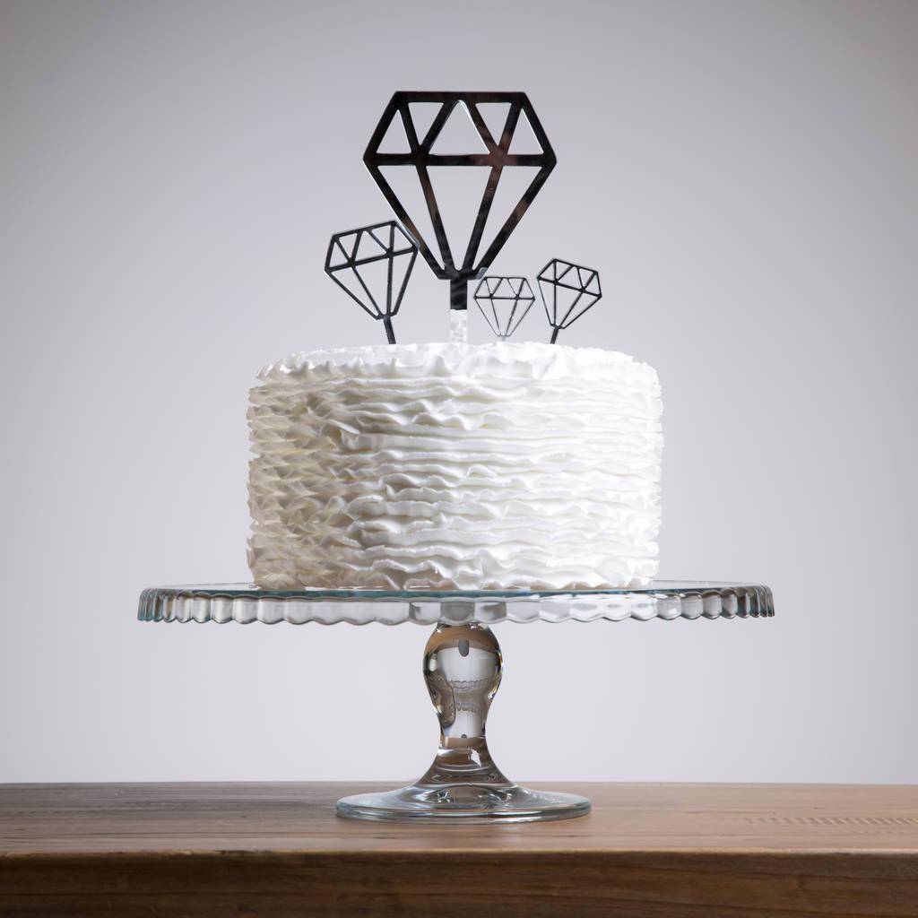 diamond cake topper party set by funky laser ...