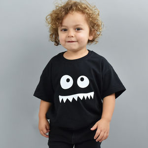 Monster Face Children's T Shirt