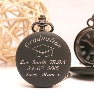 Engraved Pocket Watch Graduation Gift