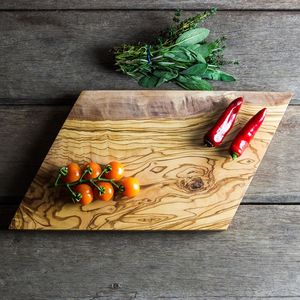 Geometric Shaped Olive Wood Cheese/Chopping Board - cheese boards & knives
