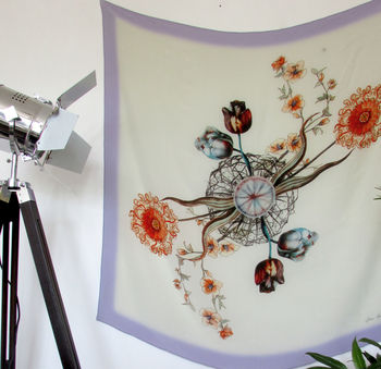 'Periphylla' Illustrated Silk Scarf