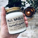 Personalised 'Thank You Teacher' Soy Scented Candle