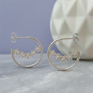 Sterling Silver Garland Hoops