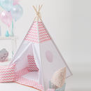 Kids Teepee Tent Set Pink