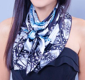 Ladies Turtle Print Silk Scarf - scarves