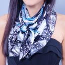Ladies Turtle Print Silk Scarf