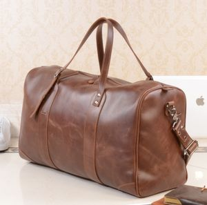 Eazo Leather Travel Holdall Bag Personalised - mens