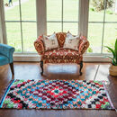 Salah New Multicoloured Boucherouite Rug