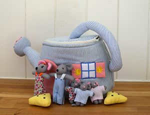 Watering Can Mouse House - toys & games