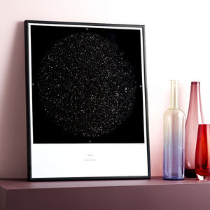 Personalised Map Of The Stars, Medium Size Print - dates & special occasions