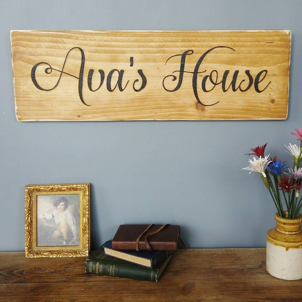 Vintage Wall Mounted Signs Engraved By Hand