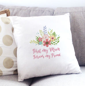 Forever My Friend Mum Cushion Cover - mum loves home sweet home