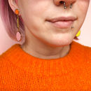 Dot And Dash Drop Dangle Earrings